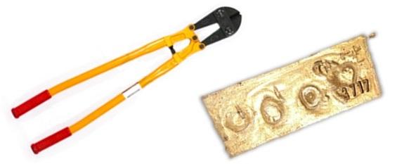 طلای آب شده و انگ و شماره قبض ریگیری در حسابداری طلا