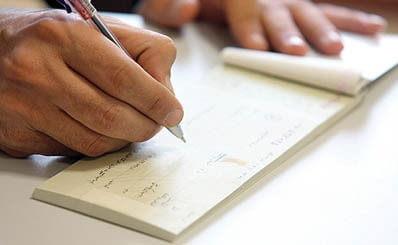 ثبت چک در سند حسابداری طلا فروشی